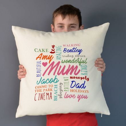 Personalised Word Art Cushion